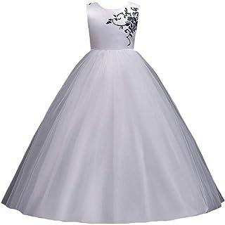 MISFUS 発表会 子供 ドレス ガールズ ワンピース キッズドレス フラワードレス ノースリーブドレス 女の子 結婚式 洋服 誕生日 演奏会 パーティー