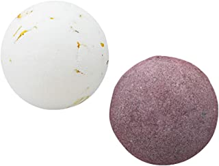 Prettyia Natural Handmade Essential Oil Spa Bubble Bath Fizzies Bath Ball– For Relaxation, Moisturizing and Fun for Kids, Women and Men(2 Pack 100g)