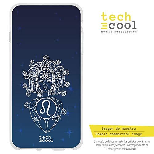 Funnytech® siliconen beschermhoes voor Huawei P10 Lite [siliconengel, flexibel, exclusief design] sterrenbeeld leeuw achtergrond hemel
