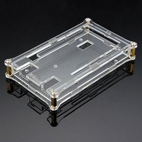 ILS - Scatola Scocca Alloggiamento in Acrilico Trasparente per Arduino MEGA2560 R3 Scheda Modulo