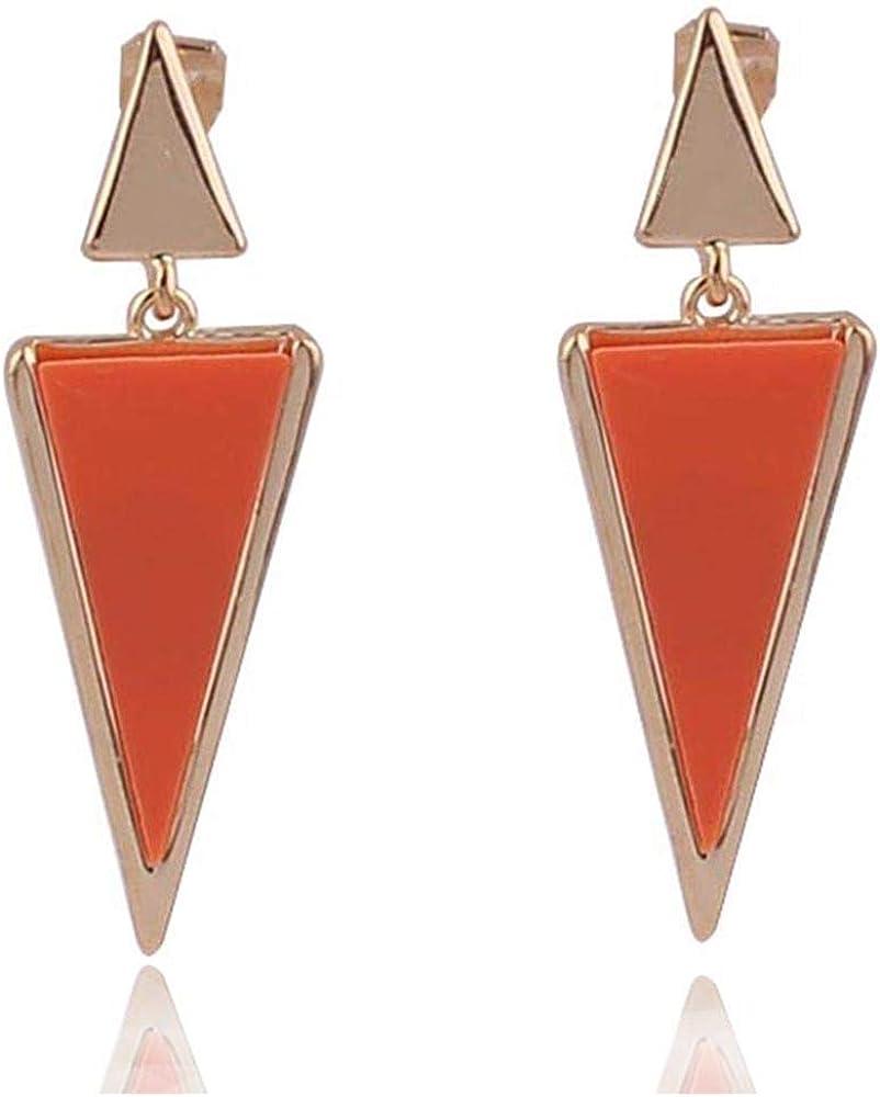 GRACE JUN Gold Color Zin Alloy Geometric Clip on Earrings for Women Party Prom Luxury Hypo-Allergenic Ear Clip