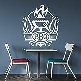 wZUN Barbacoa calcomanías de Pared Barbacoa Cocina Restaurante Oferta decoración Pegatinas de Vinilo Estufa Mural Palabra Papel Tapiz 85X94cm