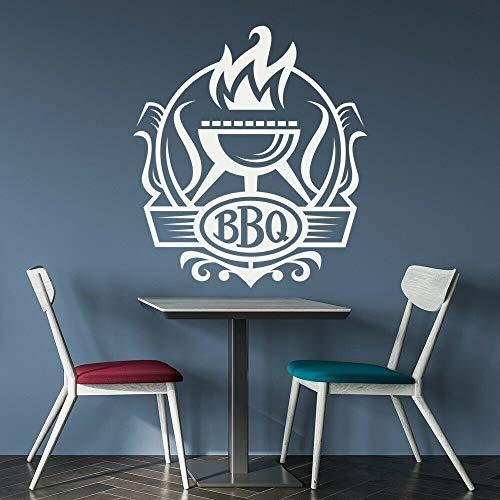 Calcomanía de pared para barbacoa barbacoa cocina restaurante citas decoración Interior vinilo pegatina para ventana estufa de fuego arte Mural papel tapiz con palabras Main Picture Color