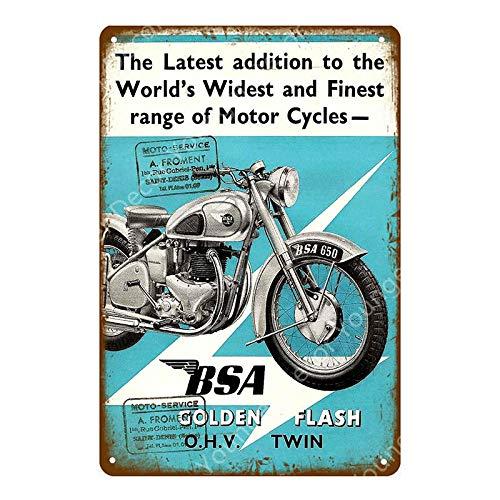 FFFPANDA Carteles de Metal de Motocicleta, Cartel de hojalata, Garaje, Club, Pub, Bar, decoración de Pared, Placa de Metal Vintage, decoración del hogar, 20x30cm YD1663EJ