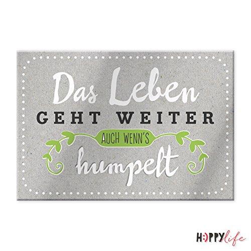 Sheepworld, Happy Life - 44111 - Magnet mit Umschlag Nr. 17, Das Leben geht weiter. Auch wenn´s humpelt