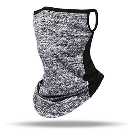 riou Herren Damen Multifunktionstuch Schlauchtuch Motorrad Ski Mundschutz Halstuch Schlauchschal (B-Gray)