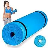Esterilla de Fitness, Alfombra Yoga, Colchoneta de Gimnasia (Azul Claro, 183X60X1 cm)