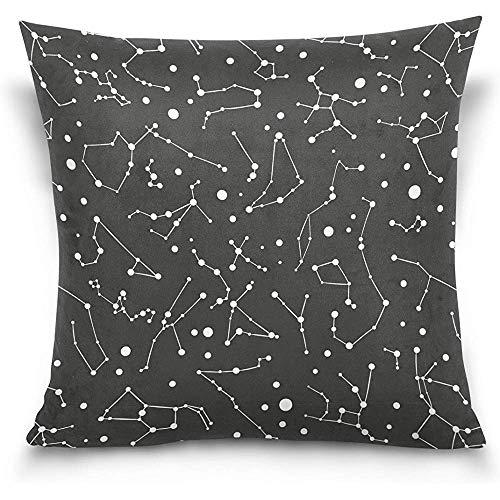 Juli zwart sterrenbeeld decoratieve vierkante gooi kussensloop kussensloop voor bank slaapkamer auto dubbelzijdig ontwerp