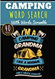 Camping Word Search: 40 puzzles | Challenging Puzzle Brain book For Adults and Kids | More than 300 words about Camper and Campfire, Campervan and Bungalow, Travels and Road trip, Holiday and Beach.