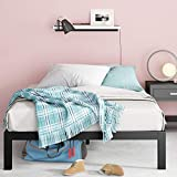 Zinus Lorrick Quick Snap TM 14-Inch Platform Bed Frame | Mattress Foundation, Wooden Slat Support | Queen Size