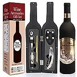 Yobansa Set di Accessori da Vino a Forma di Bottiglia di Vino,Accessori per Il Vino Include cavatappi,Tappo per Vino,versatore per Vino (Bottle 03)