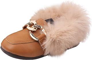 Chaussons Cuir Souple Bébé Chaussures Fourrées Enfant Chaussures Bebe Hiver Chaud Mocassins Garçon Fille Chaussures de Pri...