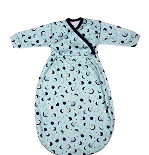 Popolini Felinchen Schlafsack aus kbA-Baumwolle Mondaffe Innenschlafsack für Winterschlafsäcke oder leichter Sommerschlafsack (86/92)