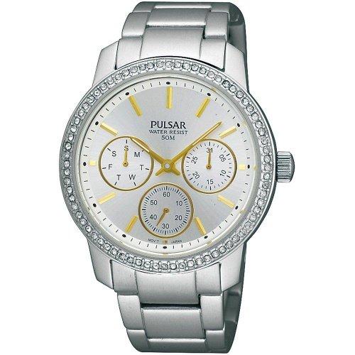 Pulsar Attitude Womens Analog Quartz Watch with Stainless Steel Bracelet PP6037X1