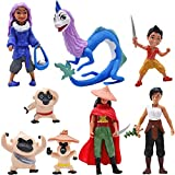 Mini Figuras Set -simyron 8 Pcs Raya y el último Dragón Figuras Cake Topper Decoración de Tartas Birthday Party Mini Figuras para Anime de Dibujos Animados del Fiesta Pastel Decoración Suministros