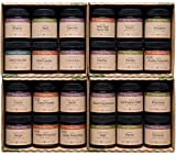 Smith & Truslow Premium Organic Spices & Seasonings Starter Set (Large, 24 Jar) - Gift Set of Essential Cooking Spices, All-Natural, Freshly Ground, Gourmet Spices & Herbs.