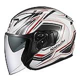 オージーケーカブト(OGK KABUTO) バイクヘルメット ジェット EXCEED CLAW(クロー) パールホワイト (サイズ:M) 581534