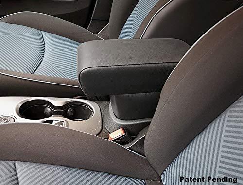 Drive Design Bracciolo Premium per 500X in Ecopelle Nero Regolabile in Lunghezza 500 X