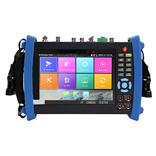 Wsdcam 7 Inch All in One 1080p Retina Display IP Camera Tester Security CCTV Tester Monitor with SDI/TVI/AHD/CVI/TDR/OPM/VFL/POE/WIFI/Multimeter/4K H.265/HDMI In&Out/Firmware Upgrade 8600MOVTSADH-Plus