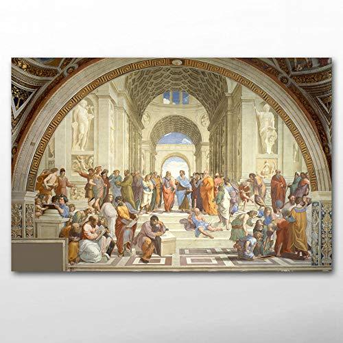 Scuola Socrate Atene Puzzle per Adulti 1000 Pezzi Puzzle di decompressione Puzzle Game per Bambini, Regalo Perfetto 50x75cm