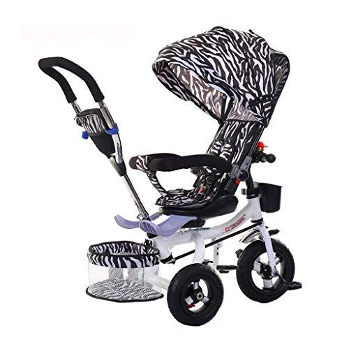 CAIMEI Training Bike Trike Triciclos para Niños Bicicleta Plegable Cochecito de Bebé Multifunción Triciclo para Niños de 1 a 6 Años Coche de Juguete Reclinable con Toldo Regalo de Cumpleaños para Niñ
