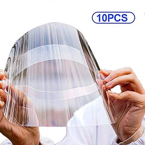 TRAXANDCO Le Masque Facial Protège Les Yeux et Le Visage avec Une Bande Elastique de Film Transparent de Protection (10)