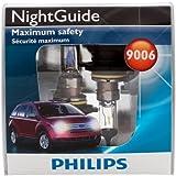 Philips 9006 NightGuide Headlight Bulbs (Low-Beam), Pack of 2