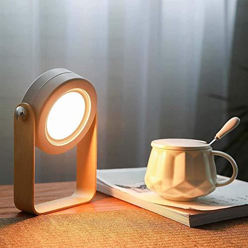 Osairous Lampada da Tavolo a Lanterna a LED, Luce Notturna Rotante a 360 ° con Controllo Touch, Luce da Tavolo Pieghevole Dimmerabile USB Ricaricabile