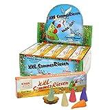 Sigro Knox XXL Sommer GIANT gemischte Farben Räucherkegel mit 1Glow Cup, 5Pack, mehrfarbig, 30x 30x 30cm