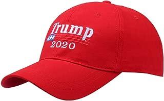 Make America Great Again Donald Trump Slogan with USA Flag Cap Adjustable Baseball Hat Unisex Summer Stylish Travel Hat (Black) (Red)