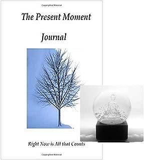 Solo BInc Snow Globes Mini Buddha Bundle – 2 Items- 1 Cool Snow Globe Clear Mini Buddha, 1 Blank Journal 120 Unlined Pages Size A5