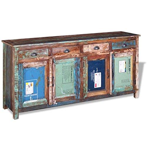 WEILANDEAL Dit dressoir met 4 deuren en 4 laden van gerecycled massief hout. Dit product is robuust en duurzaam. keukenkast. Modern dressoir, sideboard, sideboard, sideboard, sideboard, sideboard, sideboard