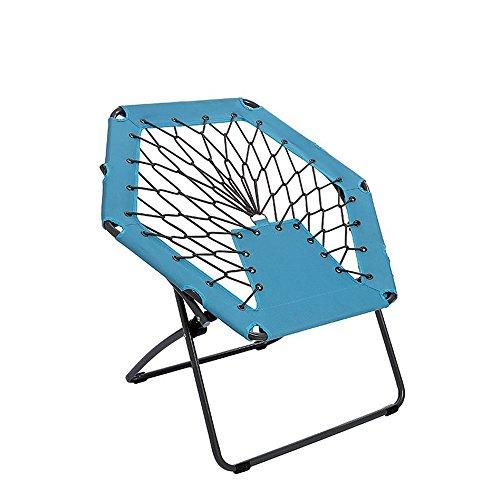 RANGE Outdoor La Sedia Moon è Disponibile for attività Ricreative all'aperto con la Sedia da Spiaggia Elastica Pieghevole for Bambini, fornisce Supporto e Comfort per Adulti (Color : Blue)