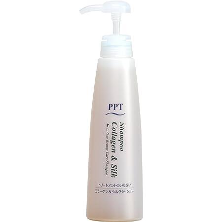 トリートメント不要 PPTコラーゲン&シルクシャンプー400ml 脂性肌~普通肌用(ふんわり)