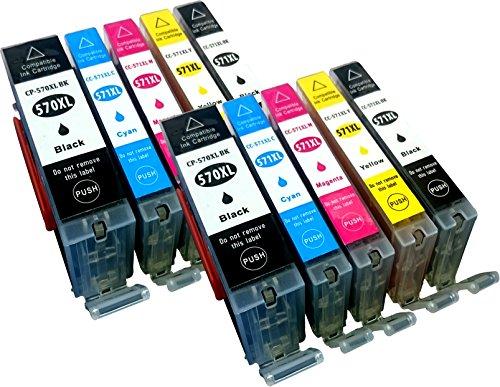 Youprint - Cartuchos de impresora para Canon MG7700 MG7750 MG7751 MG6800 MG6850 MG6851 MG6852 MG6853 MG5700 MG5750 MG5751 MG5752 MG5753 Ersetzten PGI-570BK XL, CLI-571C XL, CLI-571M XL, CLI-571Y XL Und CLI-571BK XL con chip, color 2BK, 2CY, 2MA, 2YE, 2PHBK