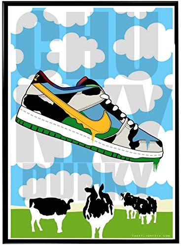 MKAN Sneaker Poster Hypebeast Poster Wandkunst Graffiti Poster Sneaker Für Wohnkultur 50X70Cm
