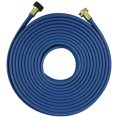 H2O WORKS Garden Flat Soaker Hose 1/2 in x 50ft,More Water Leakage, Heavy Duty Metal Hose Connector Ends, Perfect Delivery of Water,Garden Flower Bed and Vegetable Patch,Landscaping, Savings 80% Water