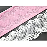Joinor Baking Supplies Sweet Lace Mat Silicone Mold for Cake Decorating Floral Lace