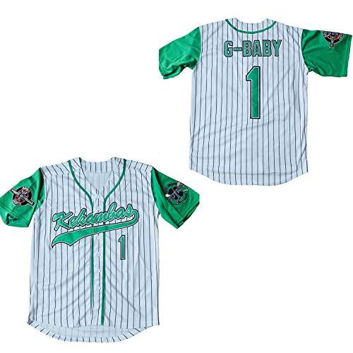 Supereasydeal Jarius G-Baby Evans 1 Kekambas Baseball Jersey Hardball (White, Large)