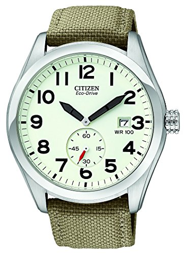 """Citizen Men's BV1080-18A """"Eco-Drive"""" Stainless Steel and Nylon Sport Watch"""