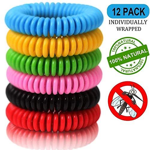 Ventdest Mückenschutz Armband, [12 Stück] Insektenschutz-Armband, Anti-Mückenschutz, Sicheres Deef-Freies und Wasserdichtes, für Kinder, Erwachsene, Camping, Reise