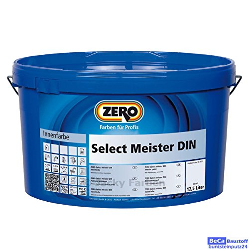 ZERO Select Meister DIN weiß 12,5 l, Innenfarbe, airlessgeeignet, stumpfmatt