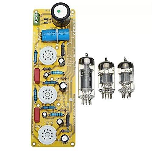Hjhjghj JCDQ11 Amplificador de Tubo 6N1 + 6P1 Válvula estéreo Puede Ajustar el Volumen de Salida Placa del Amplificador Filamento Fuente de alimentación de CA + 3 Piezas Tubos