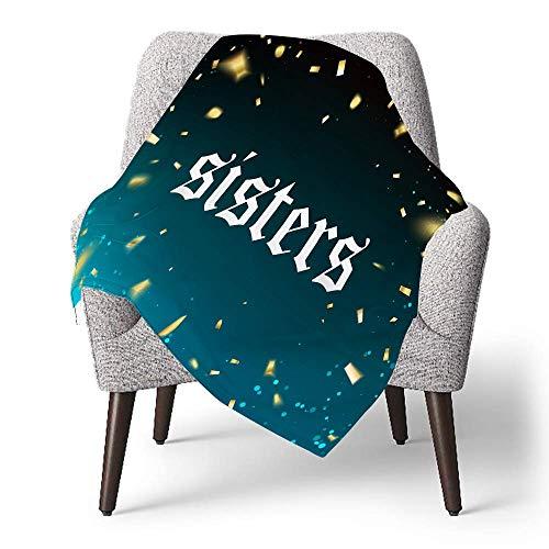 IUBBKI Manta de forro polar personalizada para niños, Sisters-James-Charles, manta súper suave para bebé para cuna, cama, sofá, silla, sala de estar