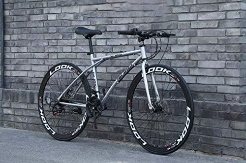 Bicicletas de carretera para hombres y mujeres, bicicletas de 24 velocidades 26 pulgadas, solo para adultos, cuadro de acero de alto carbono, bicicletas de carretera, bike con doble freno de disco,B