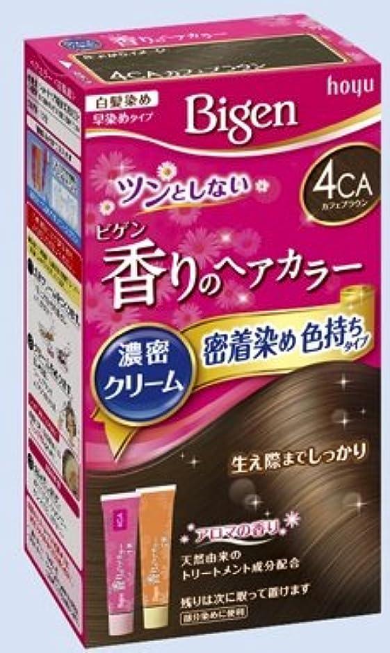 フォーム方法論科学ビゲン 香りのヘアカラー クリーム 4CA カフェブラウン × 10個セット
