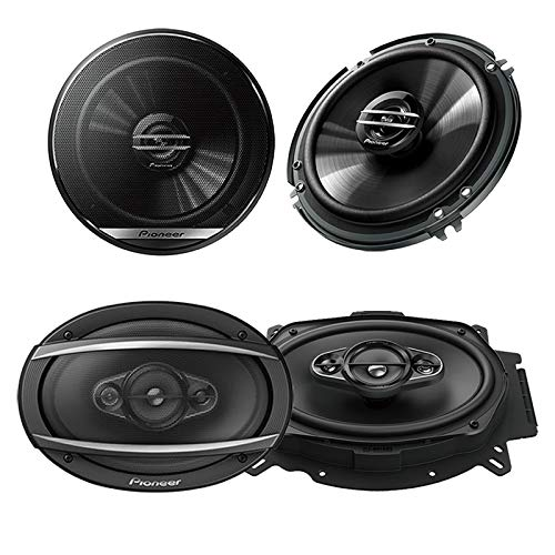 "PIONEER SPEAKER PACKAGE 1 Pair 6.5"" TS-G1645R 250 Watts + 1 Pair 6X9 TS-A6965R 400 Watts"