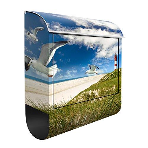 Briefkasten mit Zeitungsrolle Dune Breeze 46cm x 39cm