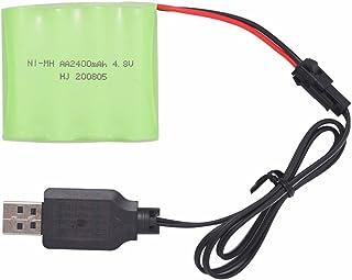 日本市場で強力 å????  é??  »é??»  æ±充電式ニッケル水素電池AAX 4 2400mAh 4.8VSM-2PプラグRC玩具用..
