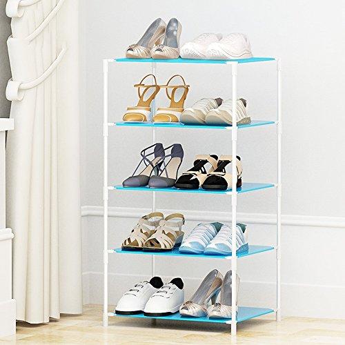 Chaussure Rack Simple de Stockage de Plusieurs étages, Moderne Minimalist résine de ménage Rack de en Plastique, Easy Assembly Shoe Cabinet (Taille : 47 * 37 * 84cm)